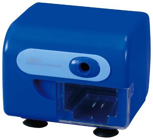 レイメイ藤井 電動鉛筆削り 折芯除去機能付き ブルー RT453A