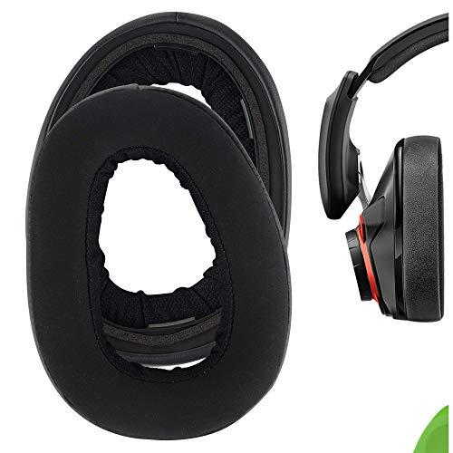 Geekria Comfort Hybrid Velour - Almohadillas de repuesto para auriculares Sennheíser GSP 600, GSP 670, GSP 500 Professional Gaming Earpads (Negro)