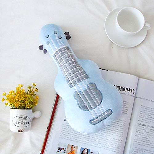 60cm simulación Creativa Guitarra Juguetes de Peluche en la decoración del hogar bebé apaciguar muñeca Suave Almohada cojín Regalo de cumpleaños para niños pequeños