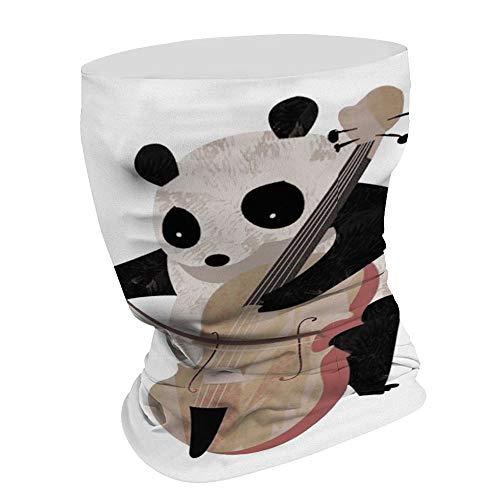 Panda Spelen Viool Multifunctionele Gezicht Masker Bandana Neck Gaiter Hoofdband Zon Masker Gezicht Sjaal Balaclava, Voor Outdoor Sport,Voor Vrouwen Mannen