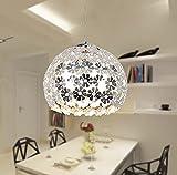YINGGEXU Luces de techo, Hermosa flor de cristal colgante ligero moderno iluminación lustre colgante colgante lámpara para comedor dormitorio Iluminación interior