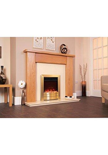 Celsi Designer Fire - Electriflame XD Essence Satin Brass 16''