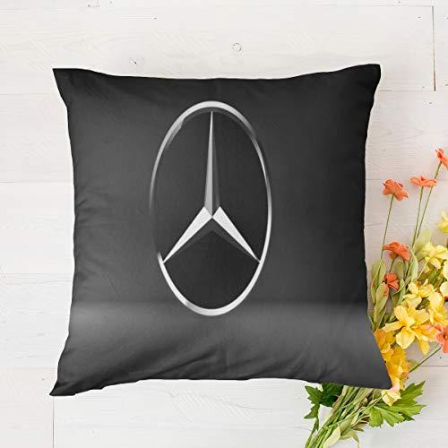 Fundas de cojín para Mercedes Benz de 45,7 x 45,7 cm, súper suave, fundas de cojín de felpa corta, fundas de almohada para decoración, fundas de cojín de 45 x 45,7 cm, decoración colorida del hogar
