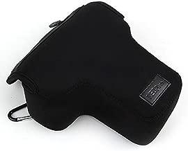 First2savvv QSL-SLRS-01 black Neoprene Camera Case Bag for Nikon D3400 D3200 D3300 D5100 Canon Eos 450D 500D 700D 1100D 1200D with 18-55mm Lens ,Sony A7R A7 Mark II M2 with 24-70 LENS