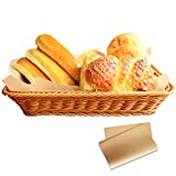 16 Inch Woven Basket, timeriver Bread Basket Can Be Used Fruit, Vegetables and Bread Storage, Wicker Baskets 50 Sheet Tray Liner, Handwoven Easy to Clean, Suitable for Home, Restaurant, Hotel, Bakery