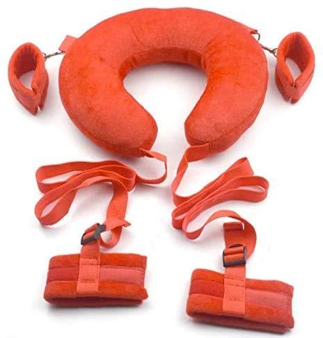 WSXKA Doux Et Confortable En Peluche Set Jouets Oreiller Retour Avec Gants Bracelet Yoga Tool, Red -120