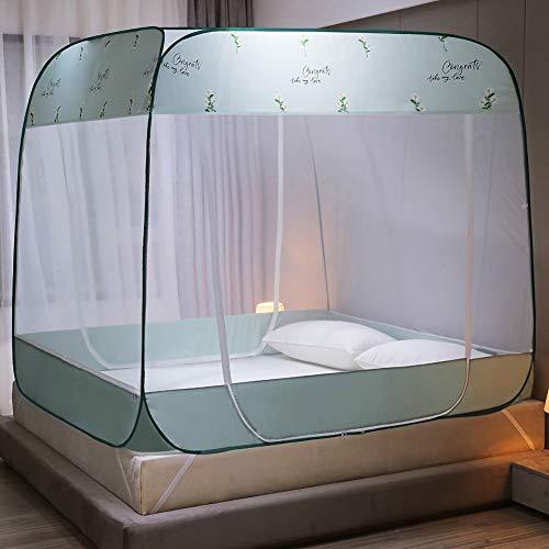 Jurte muggennet voor de zomer, insectenbestrijding, grote tent met 3 deuren, opvouwbaar bedgordijn, campingreizen, buiten, ademend, winddicht, eenvoudige installatie