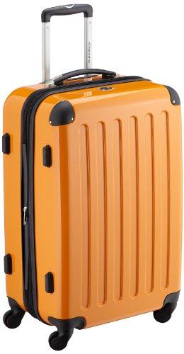 HAUPTSTADTKOFFER - Alex - Hartschalen-Koffer Koffer Trolley Rollkoffer Reisekoffer Erweiterbar,  4 Rollen, 65 cm, 74 Liter, Orange