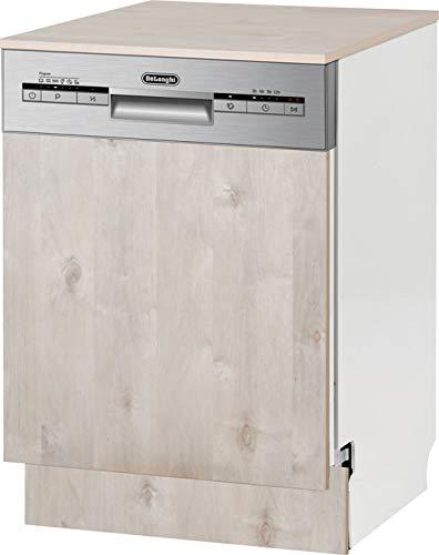 Delonghi WMD24HI Semi-Integral Freestanding Dishwasher – 6 Wash Programs & Half Load Ability – Various Options for Inner Space Organizing