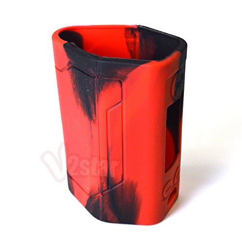 VAPORIDER Protective Silicone Case Sleeve Cover Skin Wrap For Wismec Reuleaux RX GEN3 300W - 1pc (Black/Red)