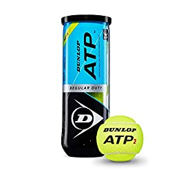 DUNLOP ATP Super Premium Regular Duty Tennis Balls - Best for Clay and Indoor Courts - 3 Ball Can (4 Cans)
