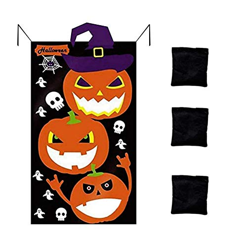 windyday Halloween Kürbis Sitzsack Kids Party Toss Spiel Set Indoor Outdoor Wurfspiele Für Kinder Familie, Halloween Party Dekoration, 100x70CM