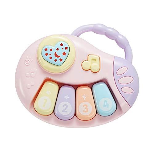 dontdo Bebé Puzzle Educación Temprana 0-12 Meses Bebé Educación Temprana Mano Tambor Sonajero con Música China Niños Juguetes B