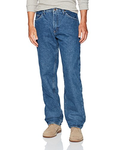 Wrangler Authentics Men's Authentics Fleece Lined 5 Pocket Pant, Stonewash, 38W X 30L