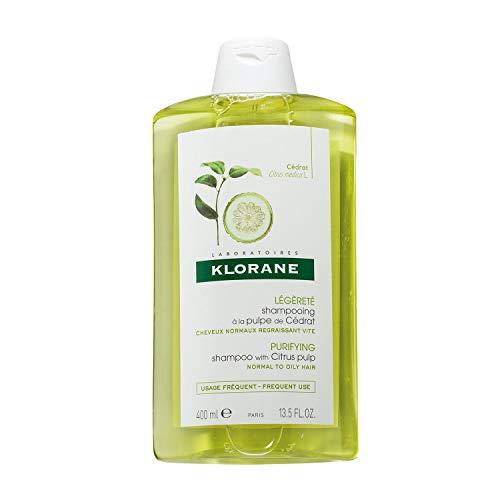 Klorane Clarifying Shampoo with Citrus Pulp, Detoxifies Hair & Scalp, Removes Buildup, Neutralizes Hard Water, Paraben, SLS Free, 13.5 Fl Oz
