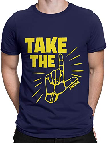 Fortnite Camiseta para Hombre Take The L Azul Talla Large