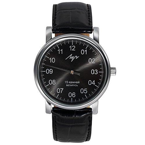 Lluch - Reloj de pulsera, esfera negra, de una sola manilla