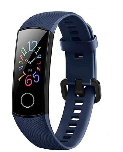 HONOR Band 5 Smart Bracelet Trackers Watch Faces Smart Fitness Timer Intelligent Sleep Data Monitoraggio della frequenza cardiaca in Tempo Reale 5ATM Waterproof Swim SpO2 Blood Oxygen Monitor (Blu)