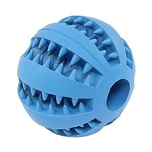 CTlite Chien Balle à Mâcher, Balle Dents Nettoyage Jouet d'entraînement Solide Balle en Caoutchouc dent de Nettoyage Jouet Distributeur de Nourriture pour Chien Chiot