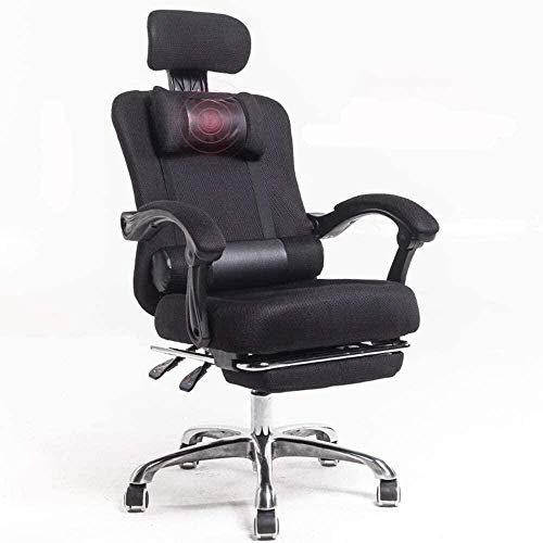 LILAODA Sessel GSN Stuhl Mesh High Back Swivel Bürostuhl Atmungsaktiv Mütze Multifunktionale Kopfstütze Doppelkissen Casual und Komfortable REVINING TRÄUCHE Gewicht 150kg-Schwarz Perfect