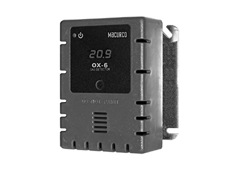 Macurco OX-6 Oxygen O2 (Low Voltage) Fixed Gas Detector Controller Transdu