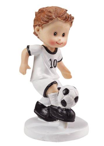 Dekofigur: Fußballer mit Ball, Polyresin, 85 mm