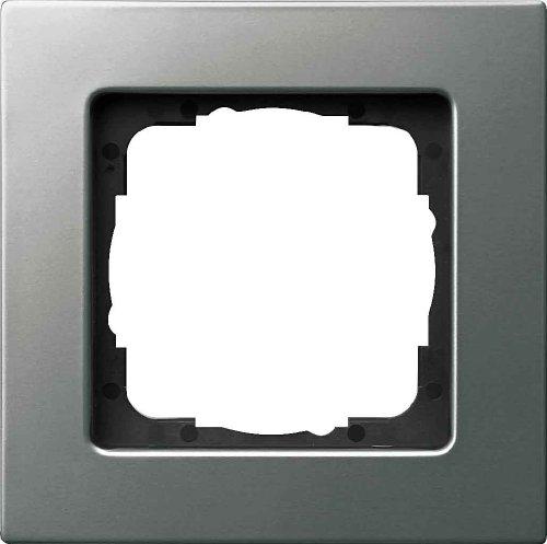 Gira 0211205 Abdeckrahmen E22 1-Fach flach, Edelstahl, Aluminium