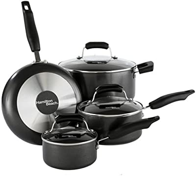 Hamilton Beach 92012 Aluminum Nonstick Elite 7 Piece Set