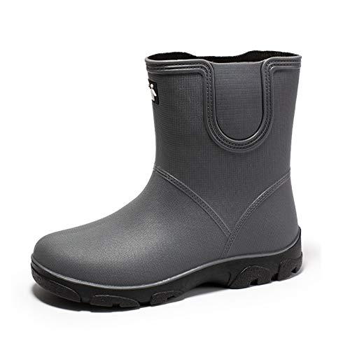 LINGZE Botas Unisex Impermeables, Zapatos Ligeros y duraderos, Botas de Lluvia de Granero, Suela Antideslizante