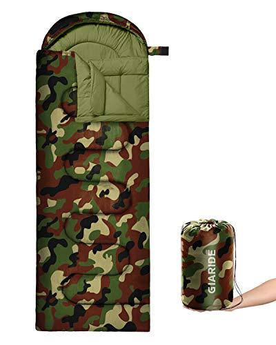 GIARIDE Camping Slaapzak - 3 Seizoen Warm & Koel weer Lichtgewicht Portabl, Waterdichte Slaapzak voor volwassenen en kinderen, Camping uitrusting voor Reizen, Wandelen, Backpacking, Camping Buiten