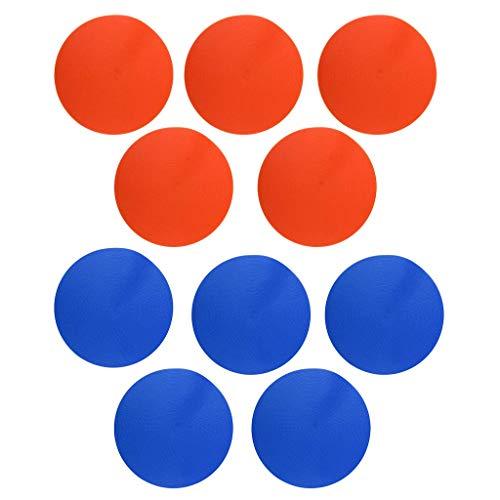 10PCS Marcadores de puntos deportivos Antideslizante Puntos de referencia Azul y naranja