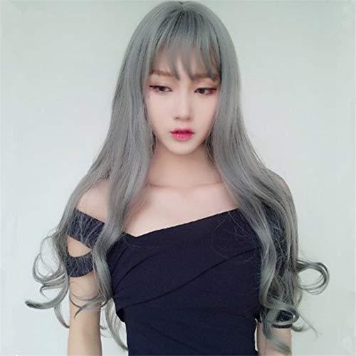 TYV Air Liu Hai grote golf lang krullend haar, oma grijze tweede binaire animatie pruik, ademende honingraat intranet