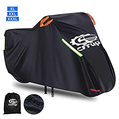 All Season Waterproof Outdoor Motorcycle Cover XXL - Heavy Duty Scooter Cover Against Dust Rain UV - Compatible with 116'' Harley Davison, Honda, Yamaha (XXXL) from Helen Butler
