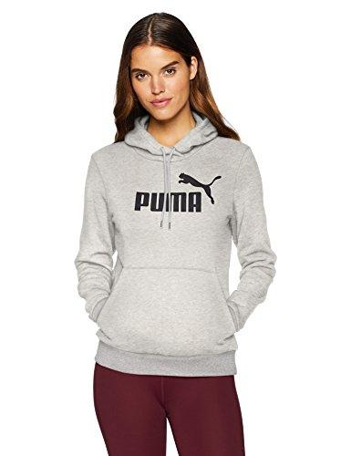 PUMA Women's Essentials Fleece Hoodie, Light Gray Heather, X-Small