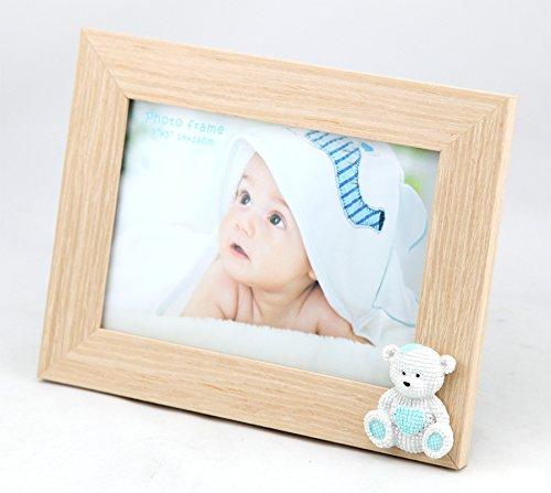 Unbekannt Baby Bear Bilderrahmen 13x18 Blau Rosa Kinder Foto Rahmen Portrait Porträtrahmen: Farbe: Blau