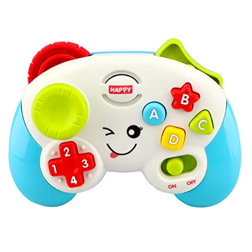 sdgfd Spiel- und Lern-Controller, Leichte Musik Lernen Griff Lernspielzeug ABCD 1234 Form Tasten Und Richtungszahlblock Für Baby Geschenk