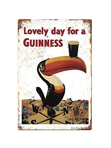 Novità vintage ideale per bar capannone bar ufficio uomo grotta casa camera da pranzo cucina regalo-Guinness Drink Beer Ale Stout Toucan Bird-targhe in metallo poster regalo in metallo 200mm x 300mm