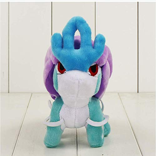 N/T Cartoon Animal Plush Toy, Suicune Entei Raikou Plush Toy The Second Generation Gold and Silver Soft Stuffed Animal Dolls 17Cm