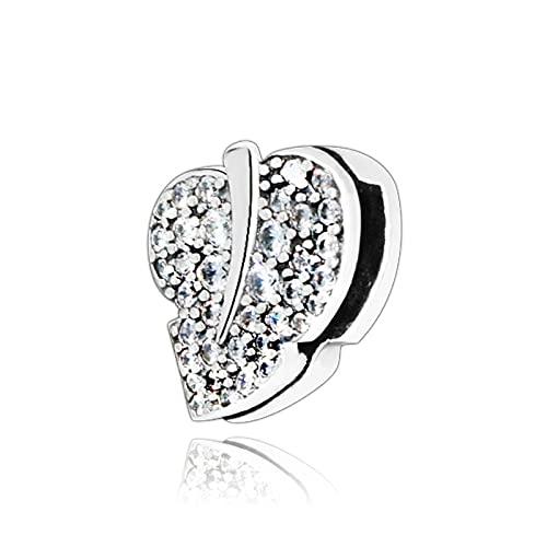 Pandora Charms para Mujeres Cuentas Plata De Ley 925 Otoño Chispeante Refliexion Love Heart DIY Jewelry Compatible con Pulseras Europeos Collars