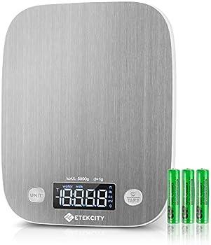 Etekcity LED Backlit Display Digital Kitchen Food Scale