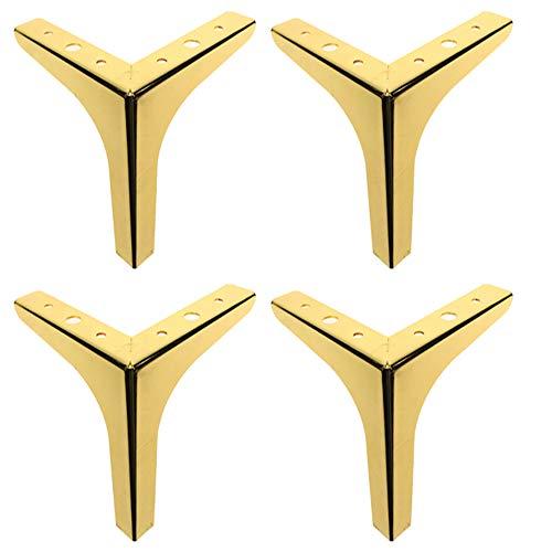 Gambe per mobili × 4, gambe per divano con supporto triangolare in ferro, adatte per tavolino, letto, armadio, mobile TV, ecc. / d