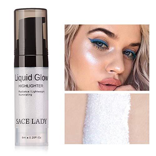 Flüssiger Leuchtmarker Cocohot Glow Illuminator Gesichtslippe erhellen Ultra Glatt Gesicht Make-up Textmarker 6ml (A1)