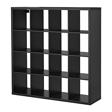 Ikea Kallax Multi Purpose Shelving Unit , Bookcase , Display Case , Black Brown , Modern