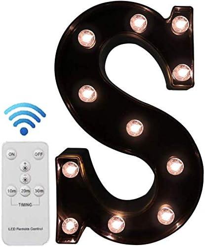 Pooqla LED Marquee Superlatite Letters with Lights Light Alphabet W Sacramento Mall Up Black