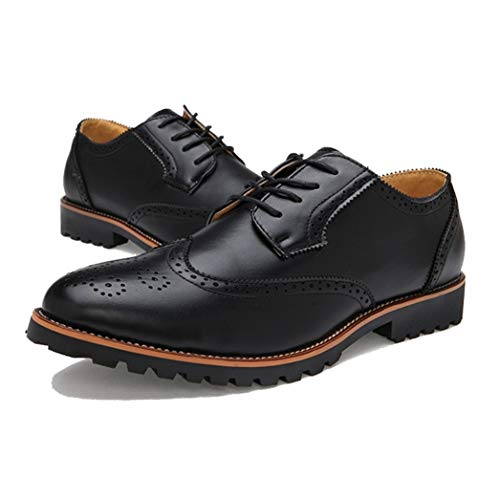 Herren Business Lederschuhe Formale Schnürschuhe Retro Brogues Spitz Geschnitzte Halbschuhe Vintage Brautkleid Schuh