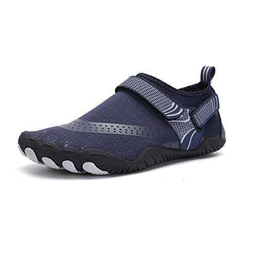 YYQQ Zapatos De Agua Hombre Mujer Antideslizante Natación De Secado Rápido Playa Surf Ciclismo Zapatos,021 Blue,39 EU