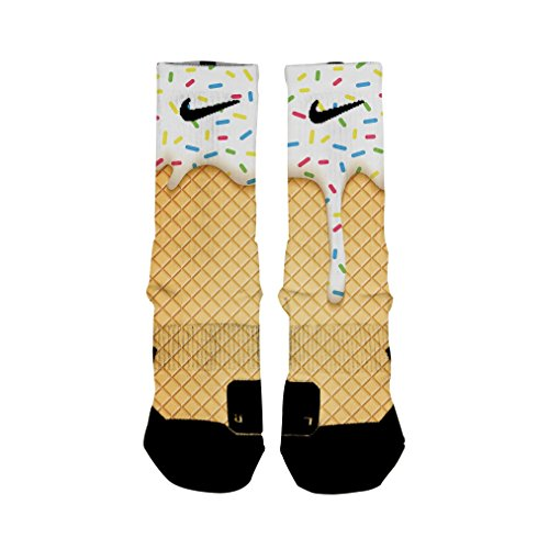 HoopSwagg Ice Cream Custom Elite Socks Medium