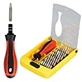 37 in 1 Precision Screwdriver Set with Slotted, Phillips, Torx& More Bits, Non-Slip Magnetic Electronics Tool Kit for Repair iPhone, Android, Computer, Laptop, Watch, Glasses, PC etc