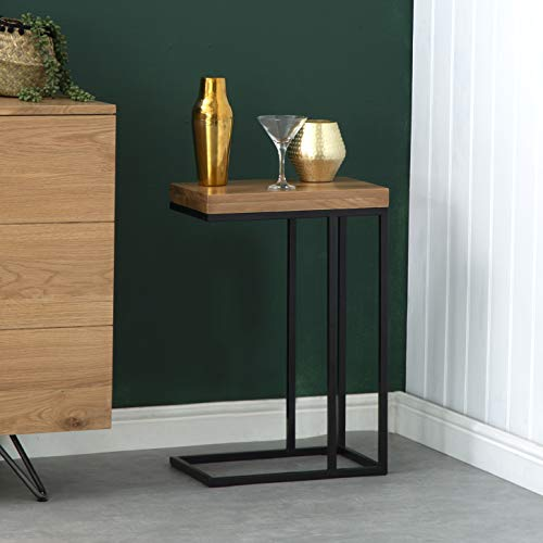 The Furniture Outlet Valentino Industrial Oak Sofa Table