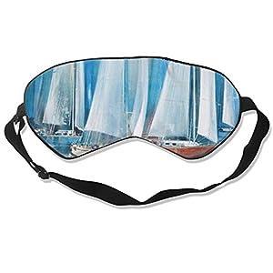 Maschera per gli occhi a vela, per dormire, morbida e soffice, per il sonno, per donne e uomini, 99% copertura per gli occhi bendati per viaggi turno e lavoro pisolini